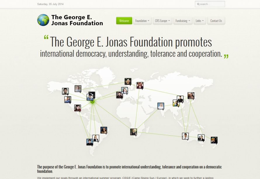 The George E. Jonas Foundation (GEJF) - Klik p� billedet for g� til hjemmesiden