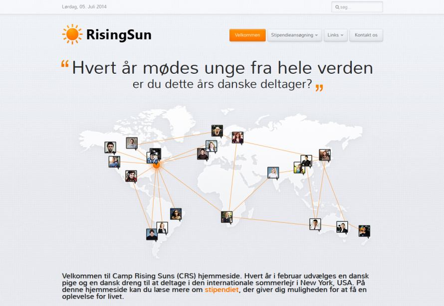Gratis International Sommerskole - Camp Rising Sun - Klik p� billedet for g� til hjemmesiden